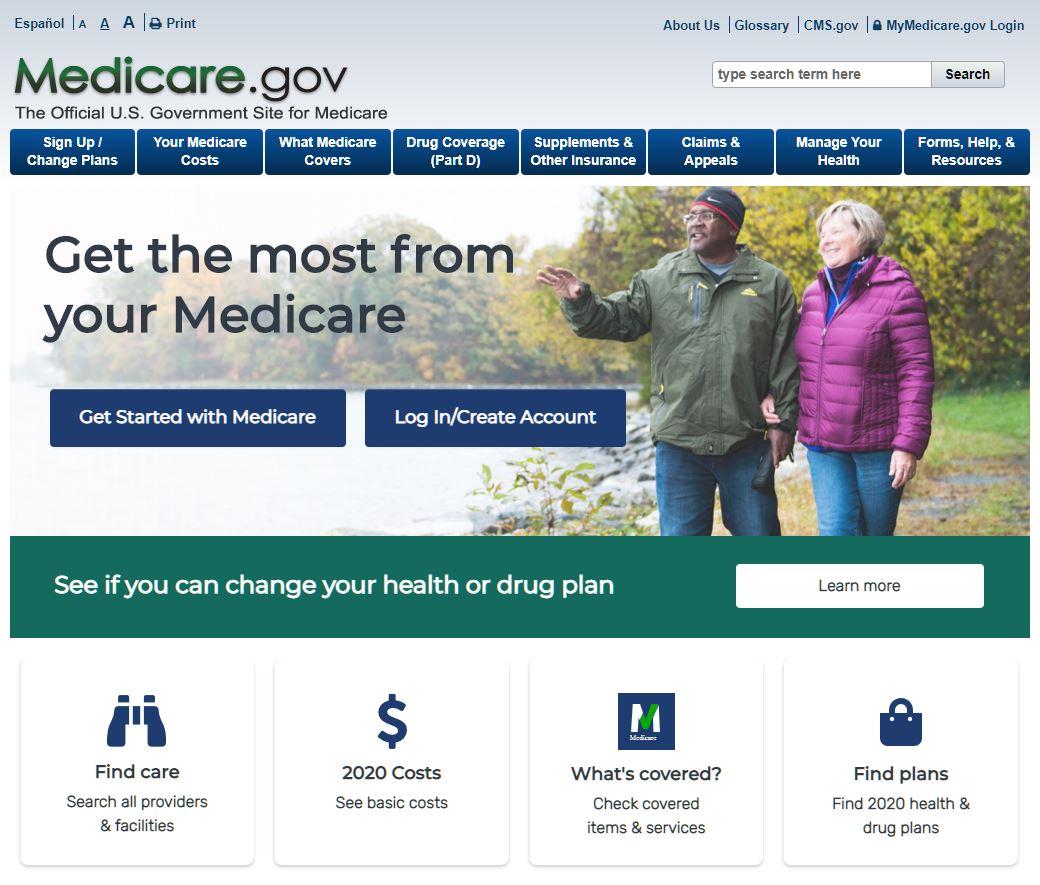 Medicare.gov website provides help with retirement medical plans.