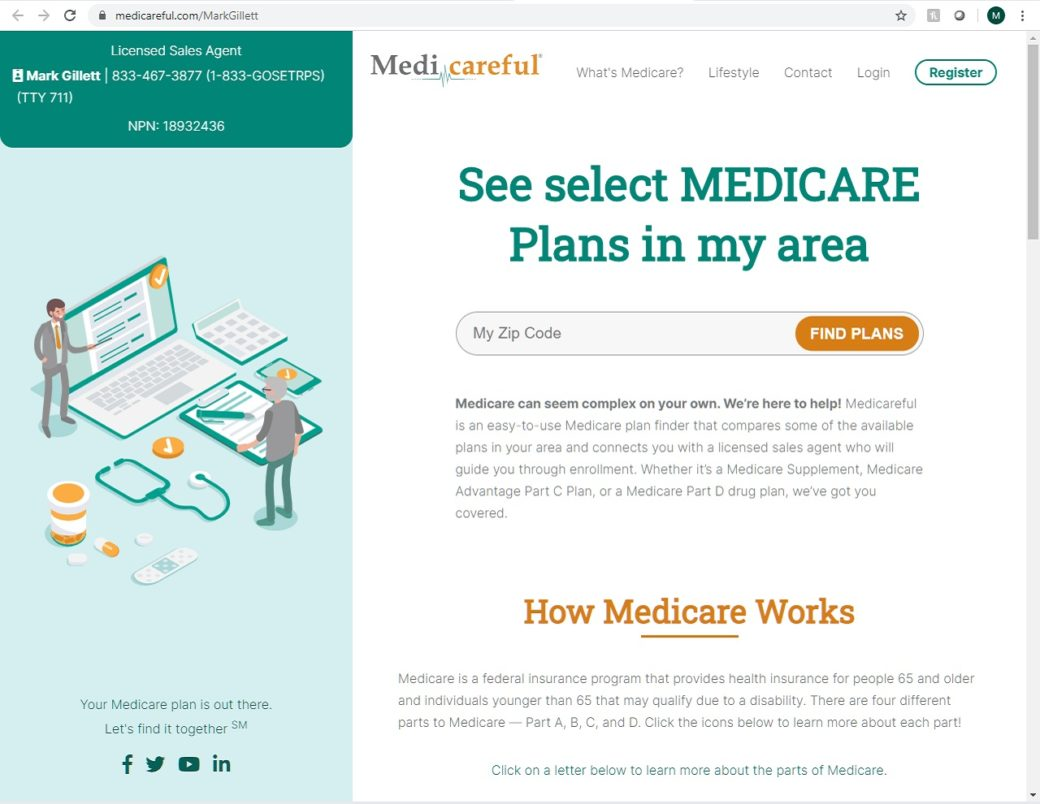 Medicareful.com website allows comparison of different medical plans.