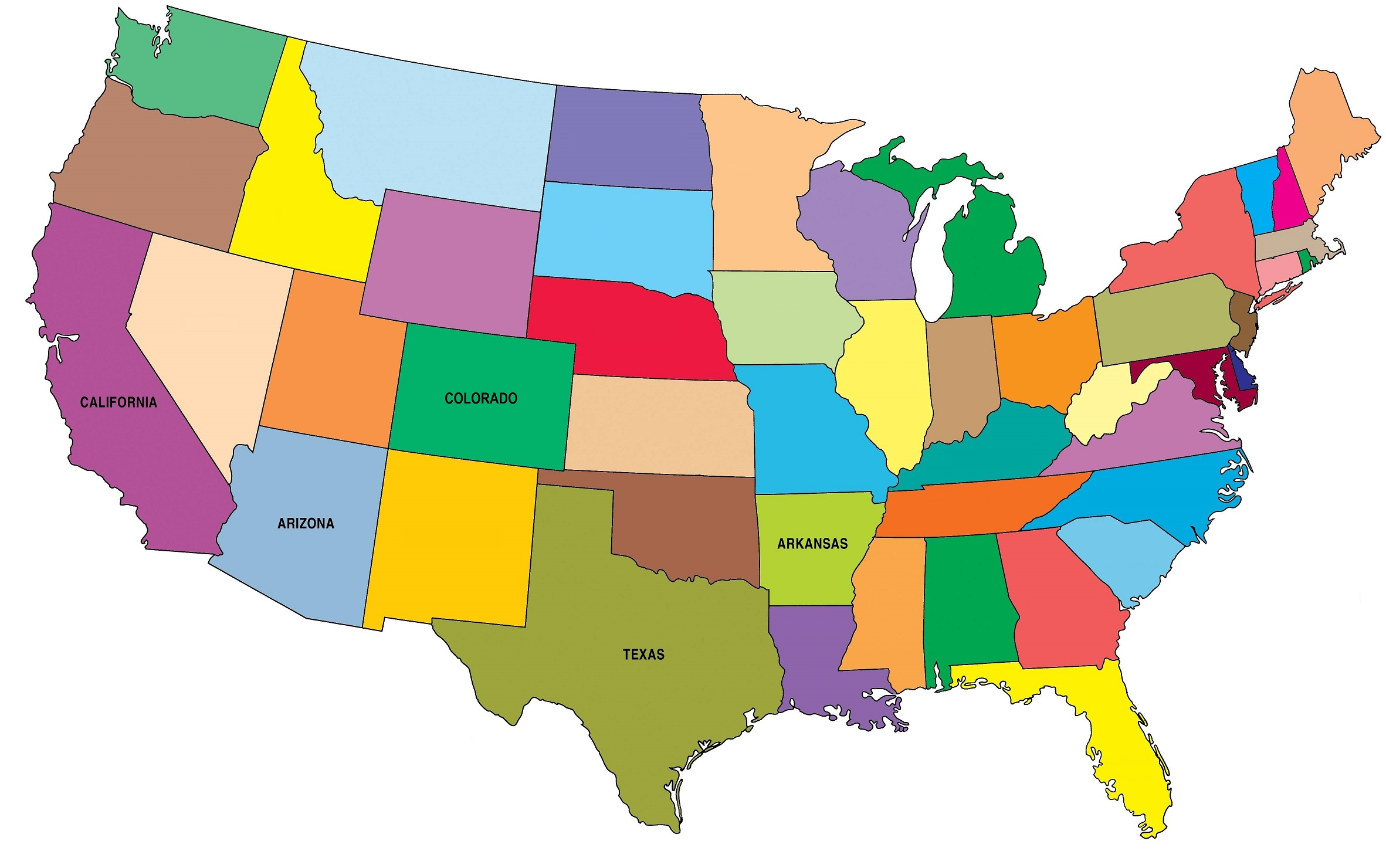 Map of US states serviced by SET Retirement Planning Solutions.